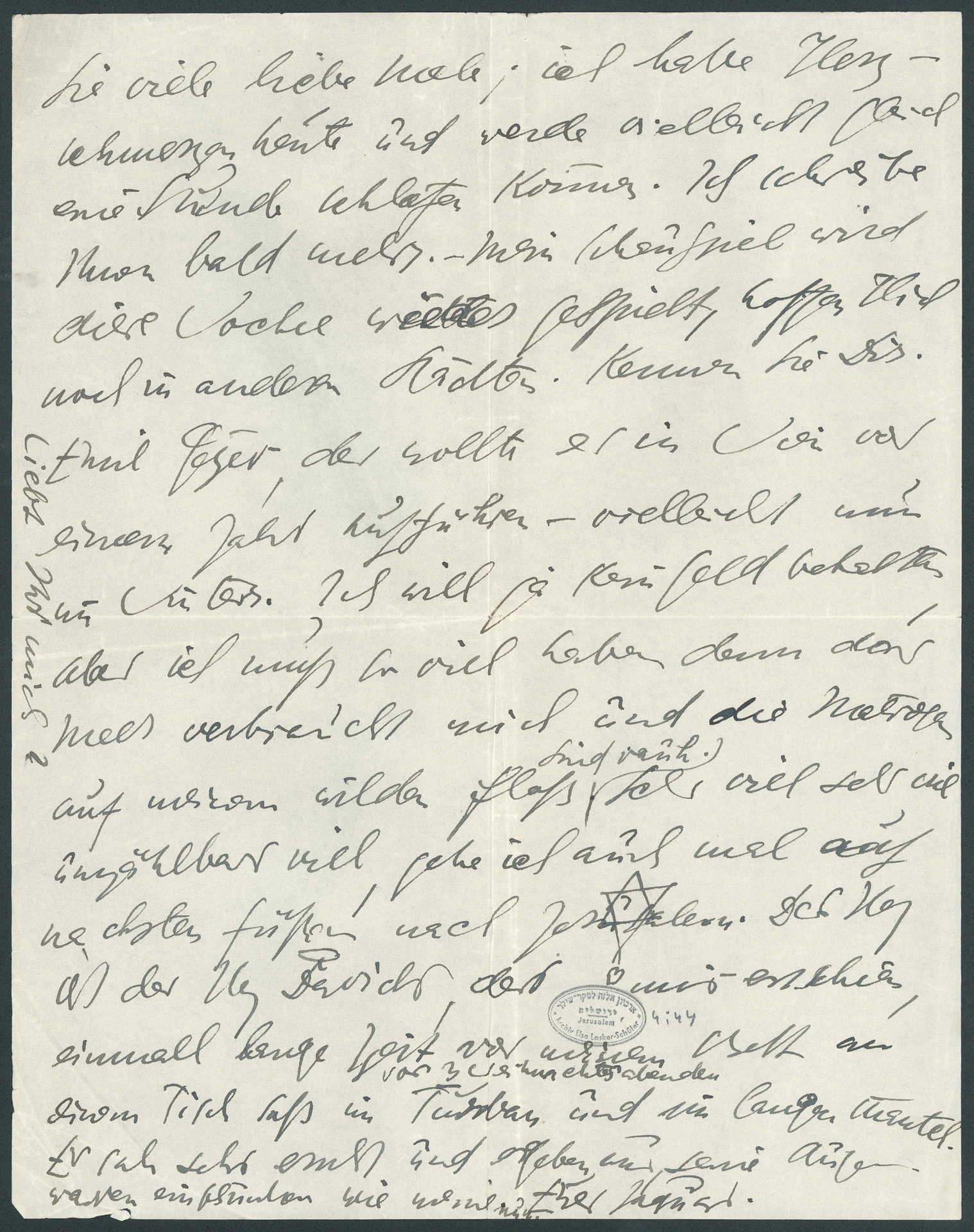 Letter to Paul Goldscheider (p. 3)