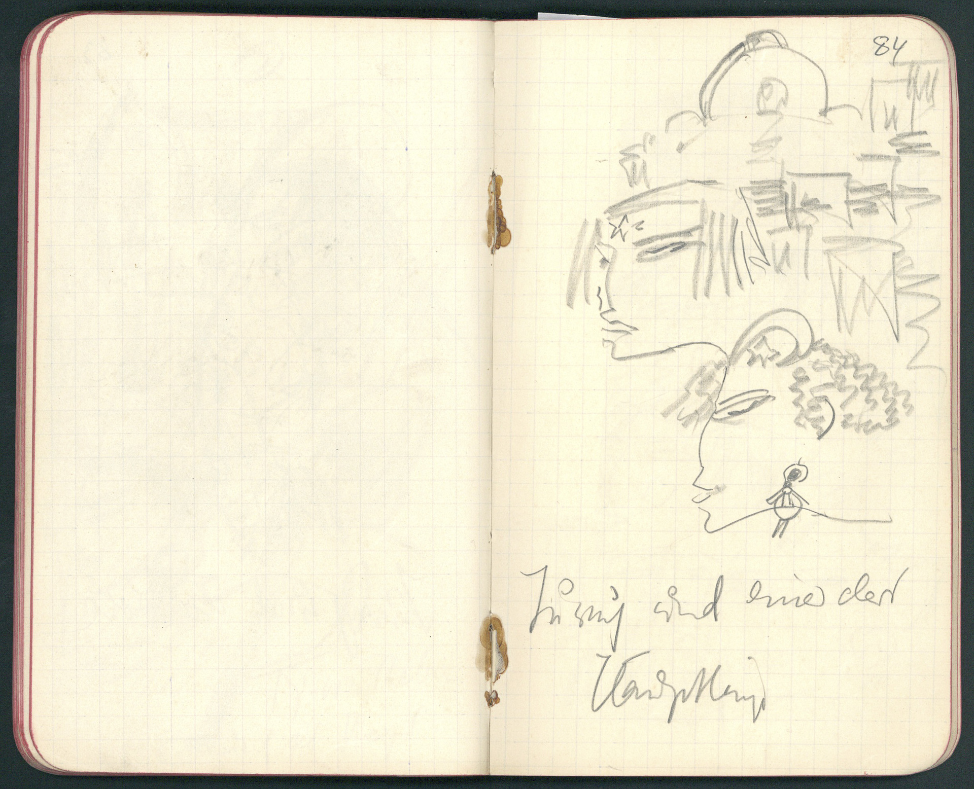 Drawings in Albert Ehrenstein's Notebook