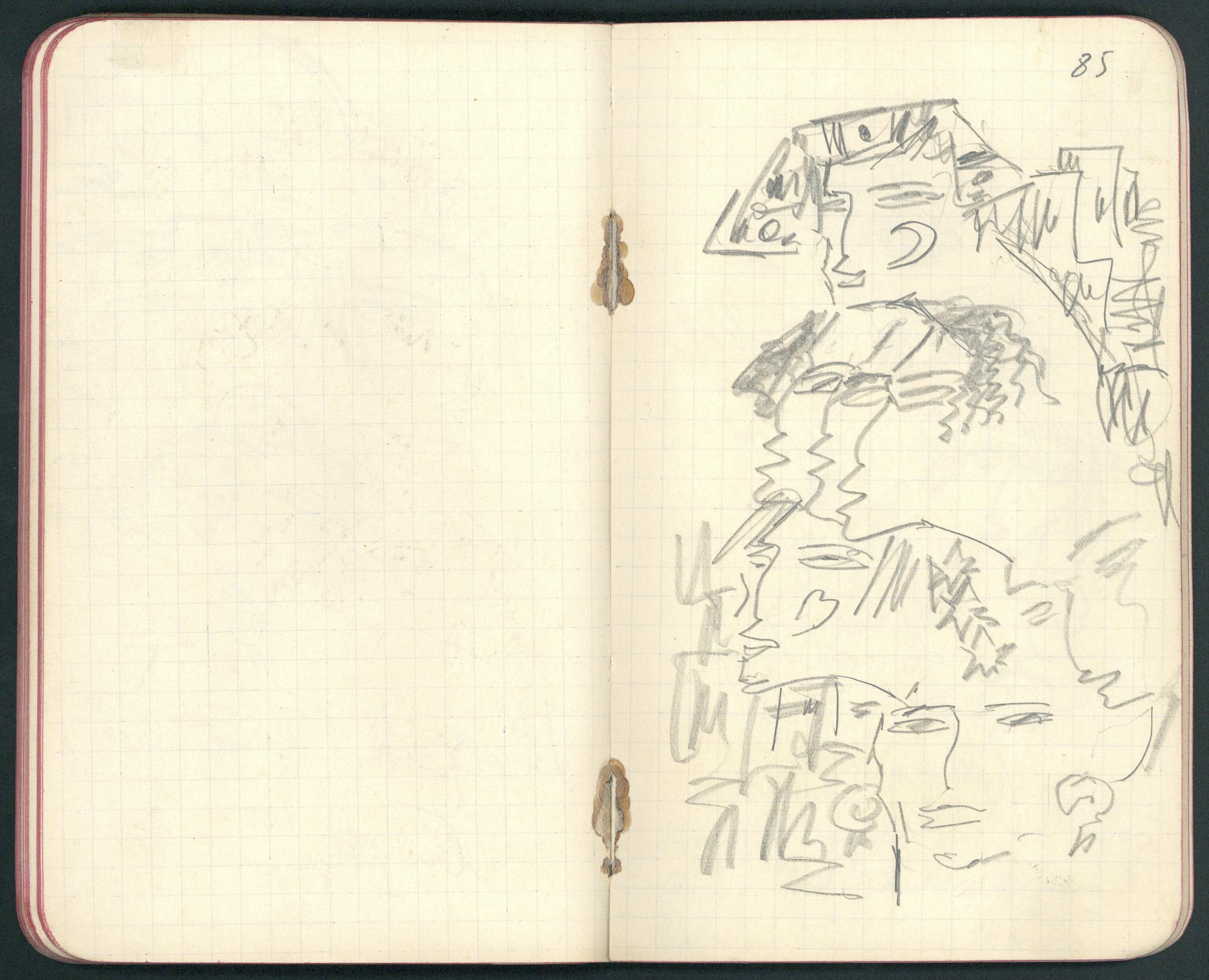 Drawings in Albert Ehrenstein's Notebook