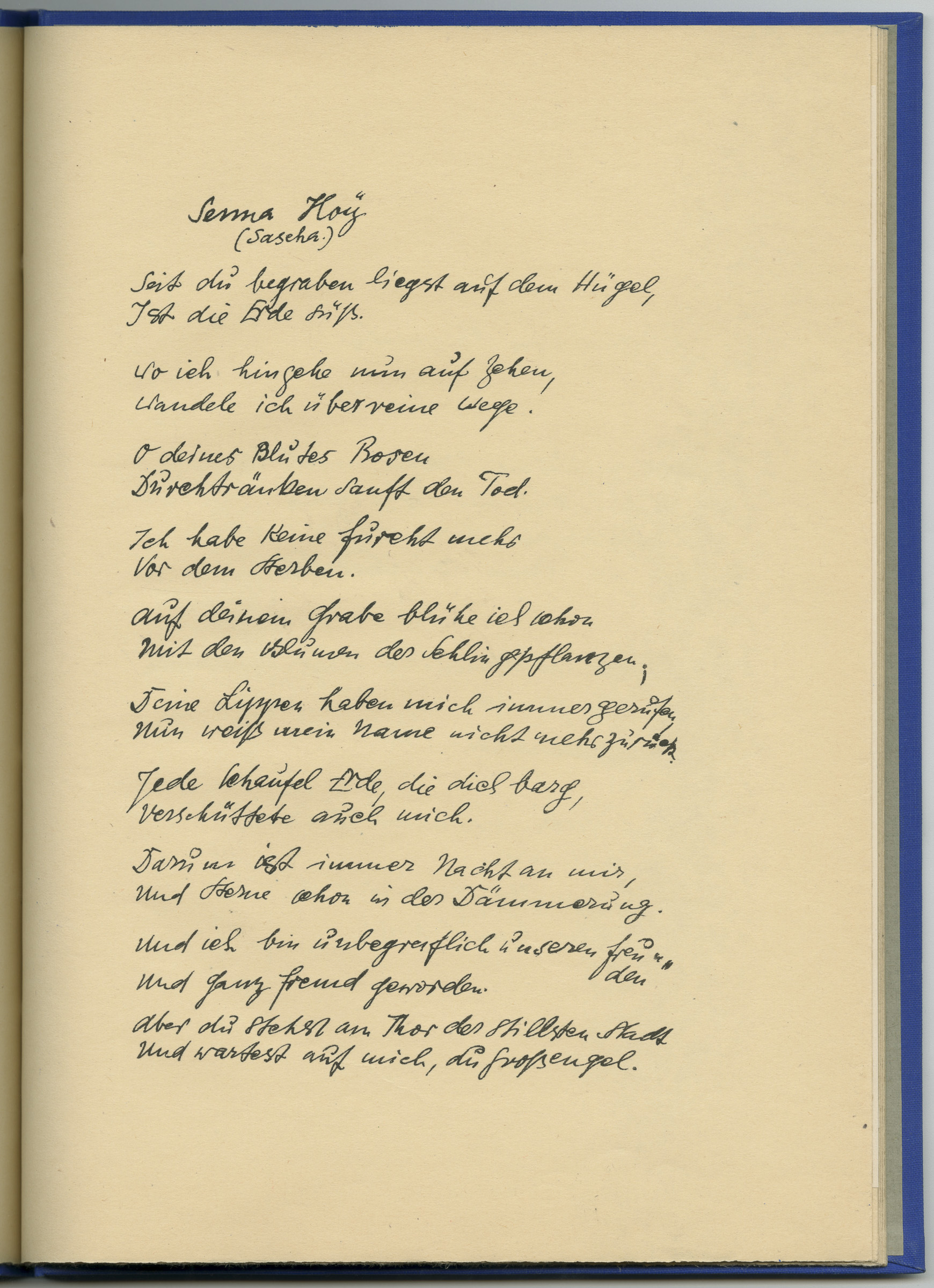 »The Bond of Wild Jews« from Thebes. Poems and Lithographs (poem)