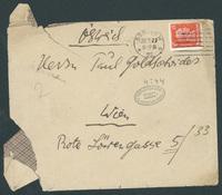 Letter to Paul Goldscheider (envelope)